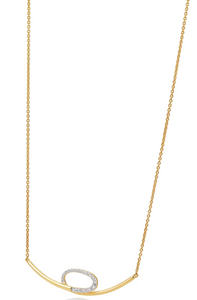 Breuning Gold and Diamond .204ct Necklace