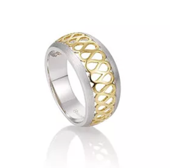 Breuning SS Gold Design Ring