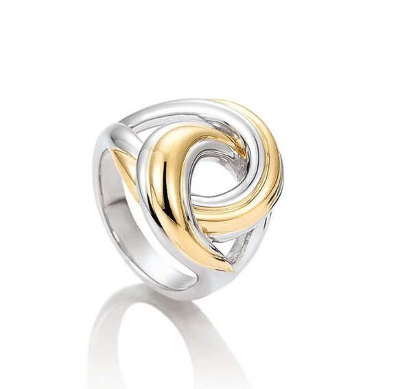 Breuning SS Yellow Interwoven Ring