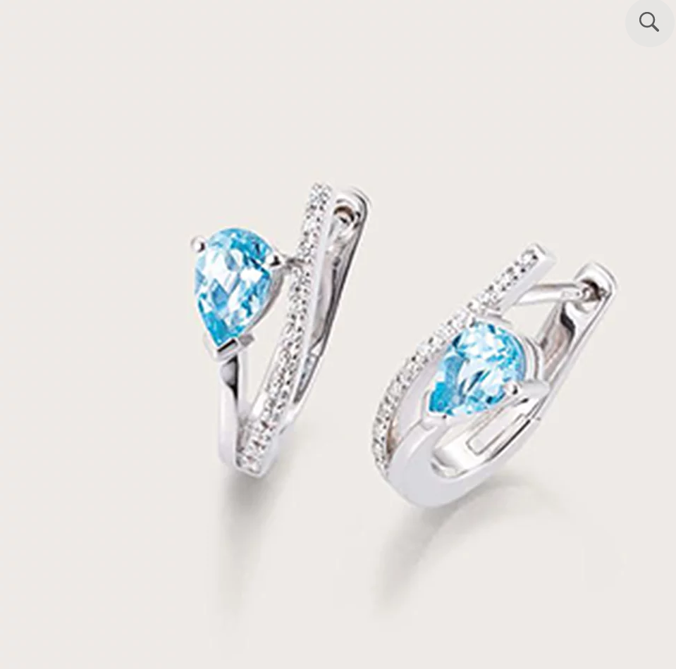 Breuning Blue Topaz Earrings