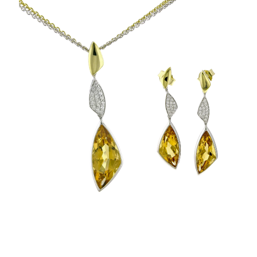 Gold and Citrine Set