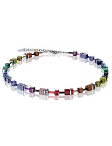 GeoCUBE® necklace multicolour rainbow dark