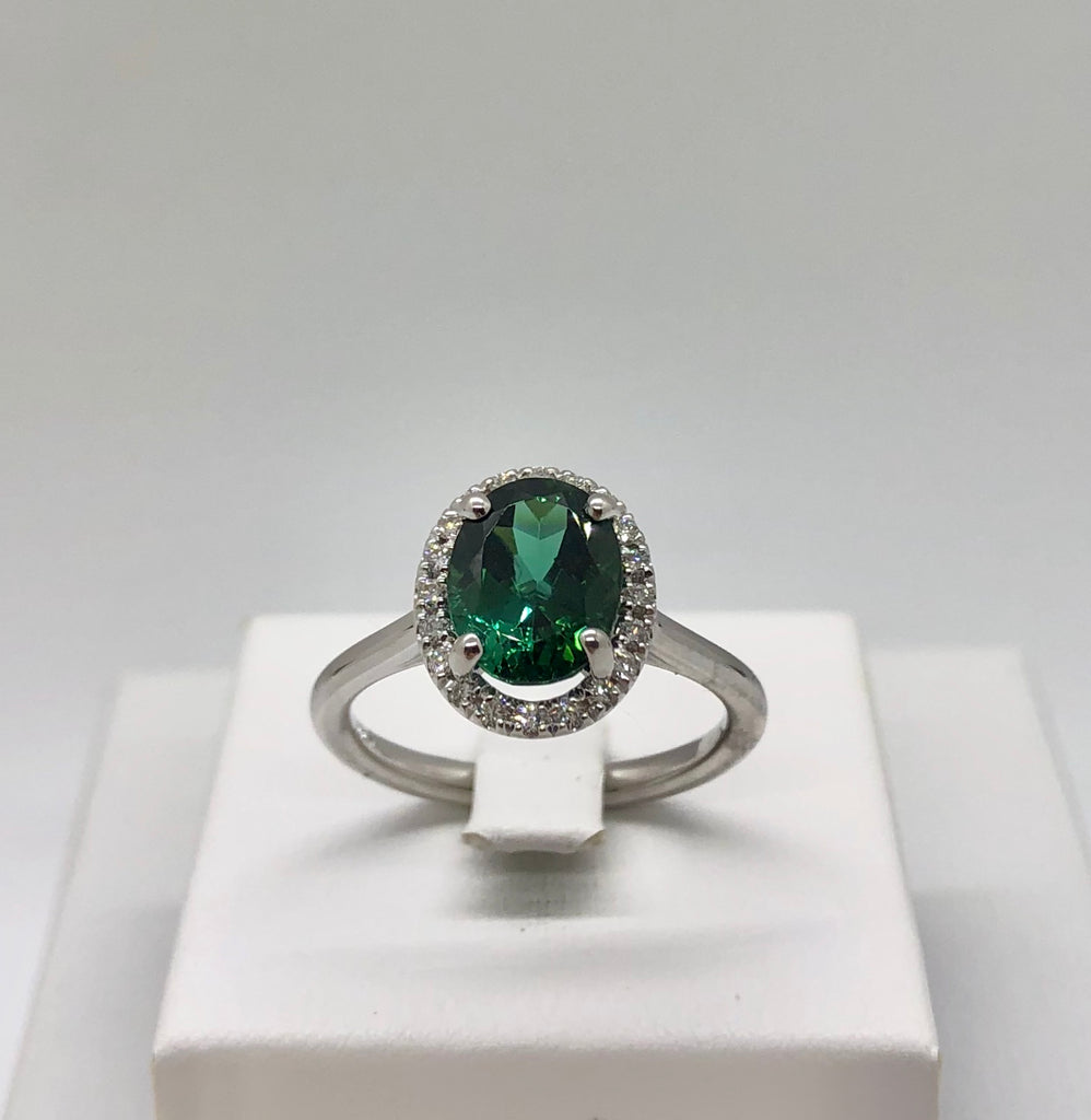 14K with Green Tourmaline Ring