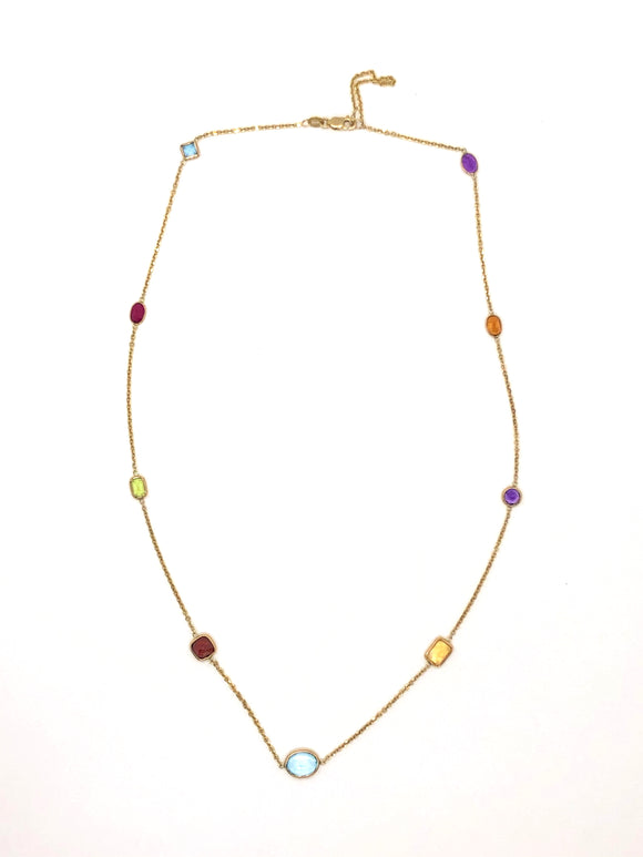14k Multi-Gemstone Necklace
