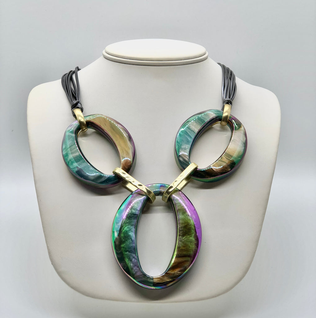 """Rush"" Oval Necklace"