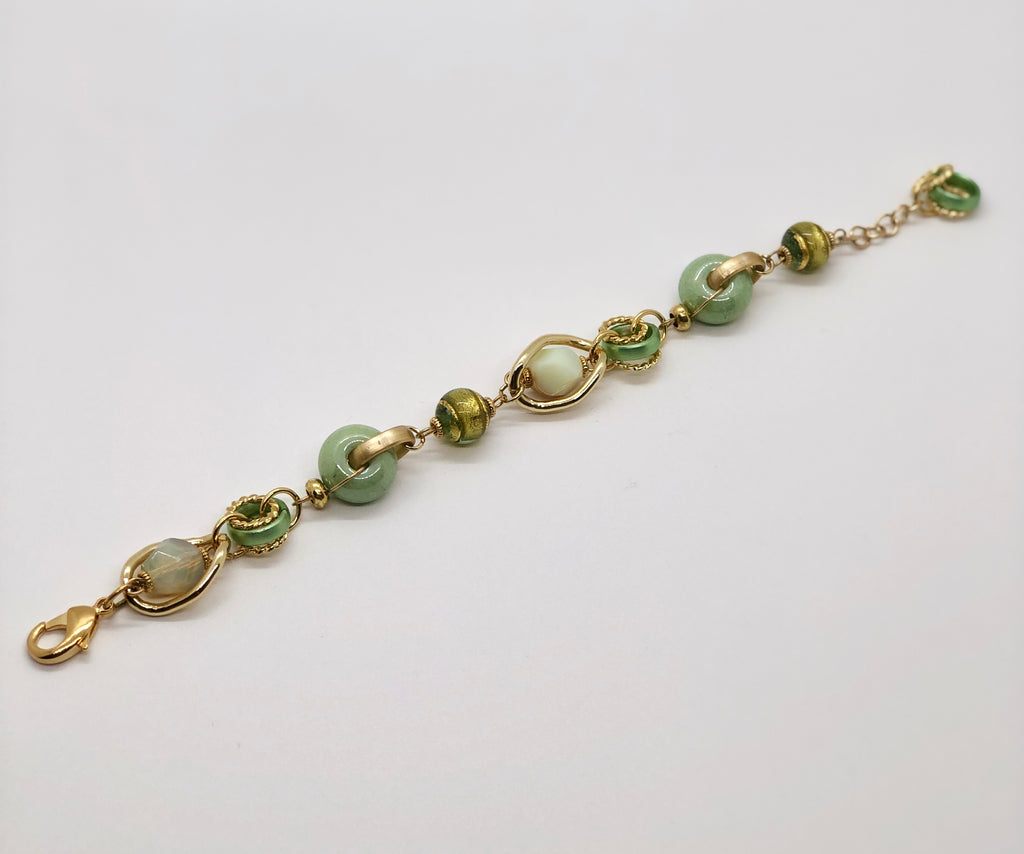 Green & Gold  Antica Murrina Bracelet