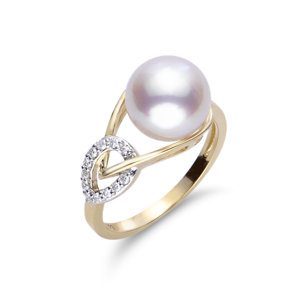 Imperial 14K Yellow Gold Akoya Pearl Ring