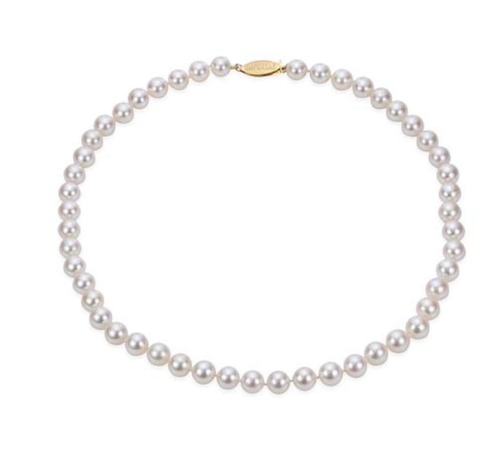 "Imperial Pearls 18"" 14K Gold Cultured Akoya Pearl Necklace"