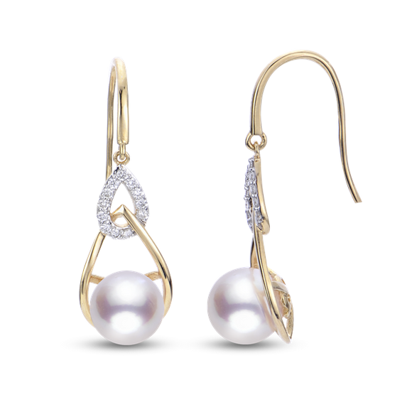 Imperial 14K Yellow Gold Akoya Pearl Earrings