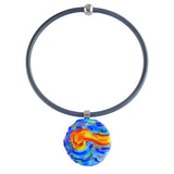 Vincent #3 • murano glass necklace • STARRY NIGHT