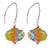 Venezia Onion Millefiori Murano Glass Earrings- Rainbow