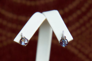 Chatham Alexandrite Earrings