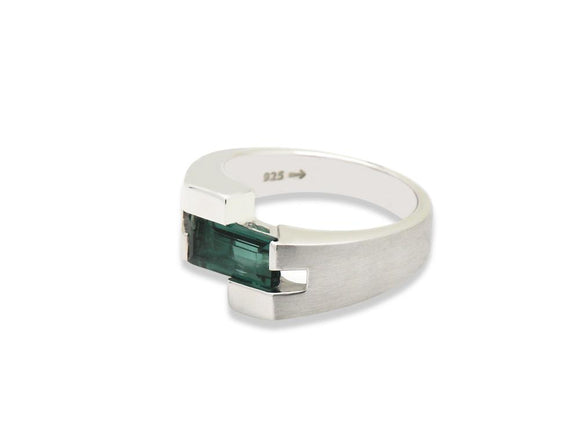 Uni-Sex Green Quartz Ring