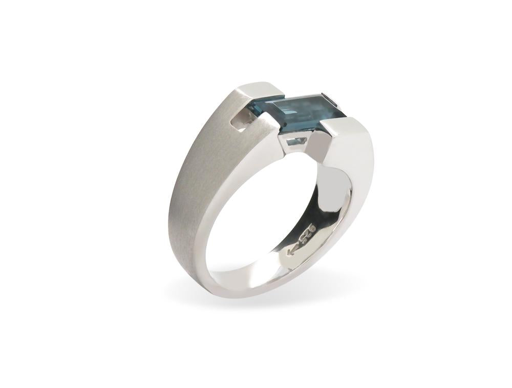 Uni- Sex Ocean Blue Topaz Ring