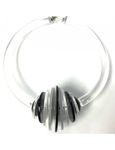 Disco Black/Frost/Clear Necklace