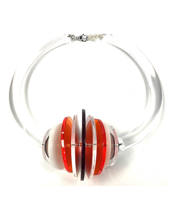 Disco Red/Clear Necklace