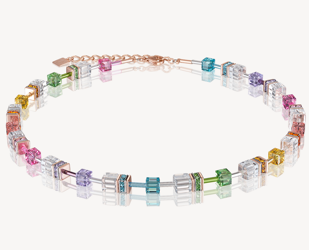 GeoCUBE® Necklace multicolour-crystal
