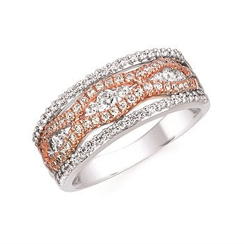 Diamond Two-Tone Fashion Ring