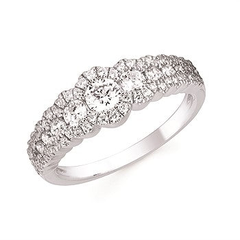 9/10 Ctw. Diamond Fashion Ring In 14K Gold