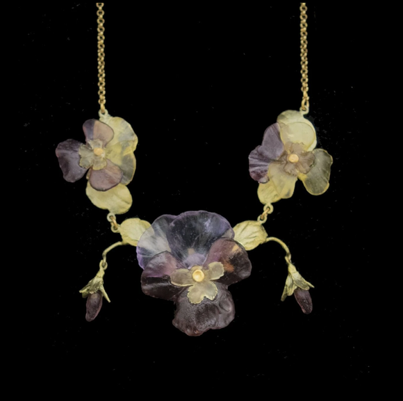 Pansies Necklace
