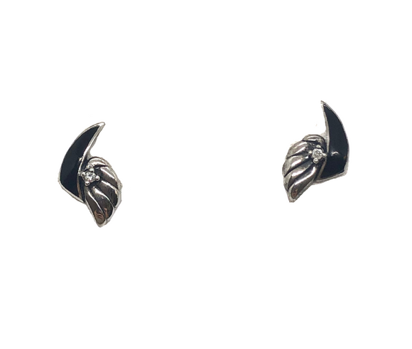 Black Winged Earrings