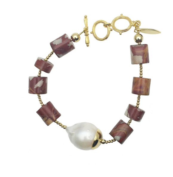 Noreena Jasper and Baroque Pearl Bracelet