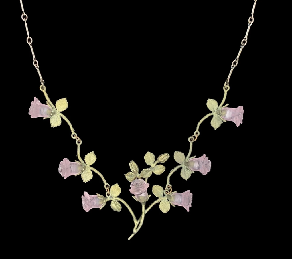 Blushing Rose Vines Necklace