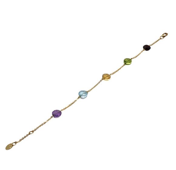 14K Multi-Gemstone Bracelet