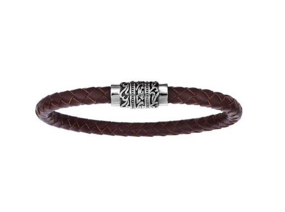 Stainless Steel Brown Antique Bracelet