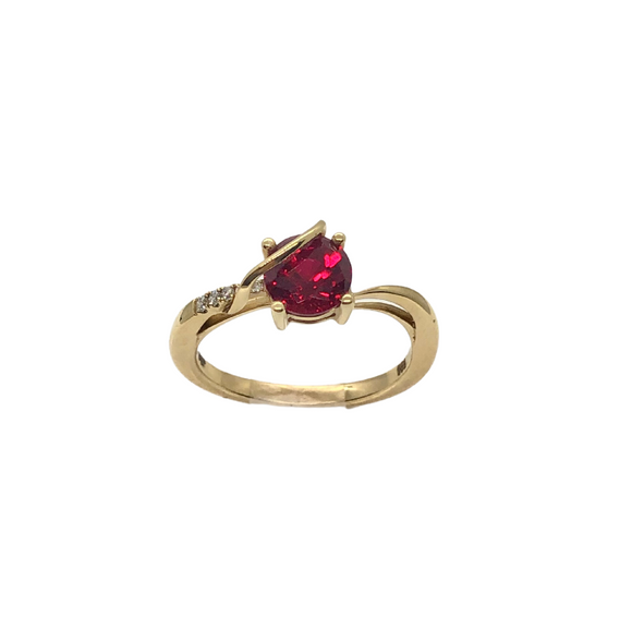 Chatham Round Ruby Ring