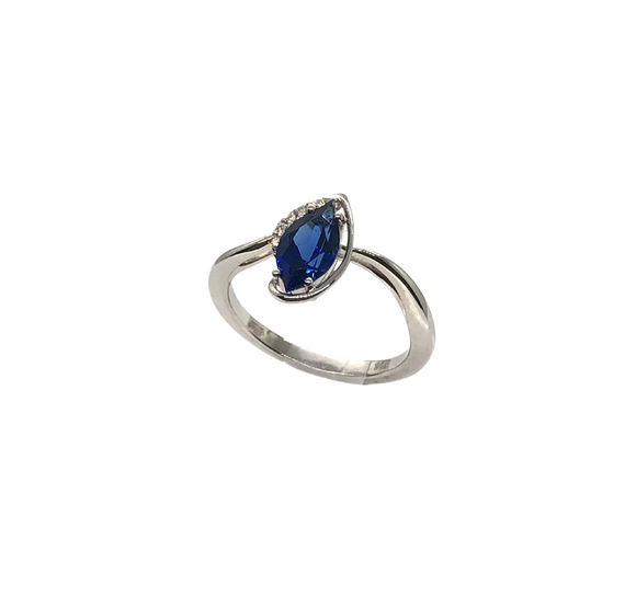 Chatham Marquise Sapphire Ring