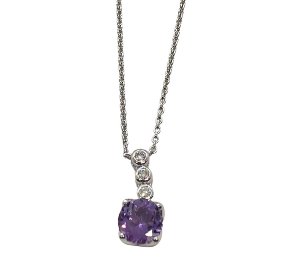 14k Amethyst Necklace