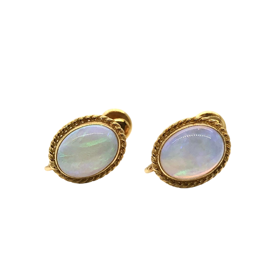 14k Opal Earrings