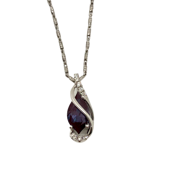 Chatham Alexandrite Necklace
