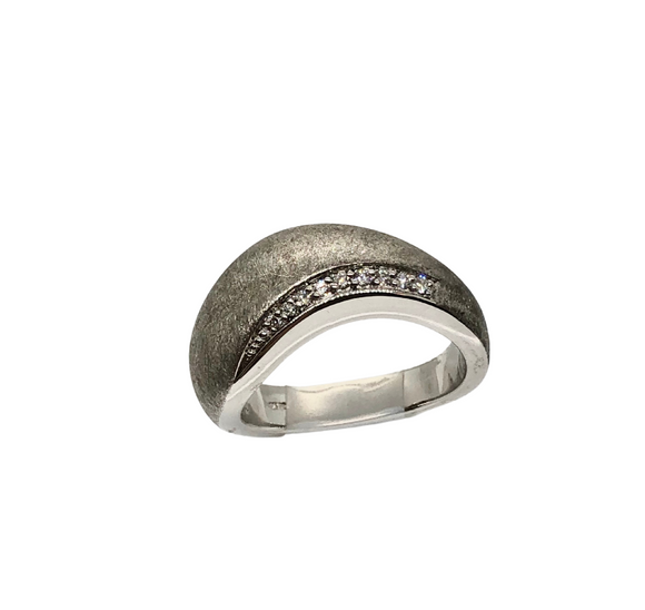 Breuning Sterling Silver and Diamond Ring