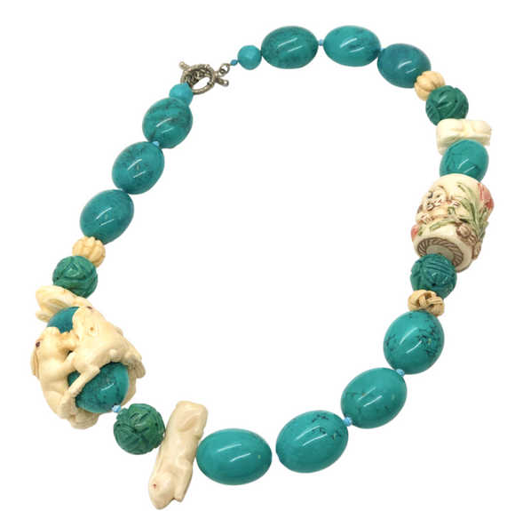 Turquoise Rabbit Necklace