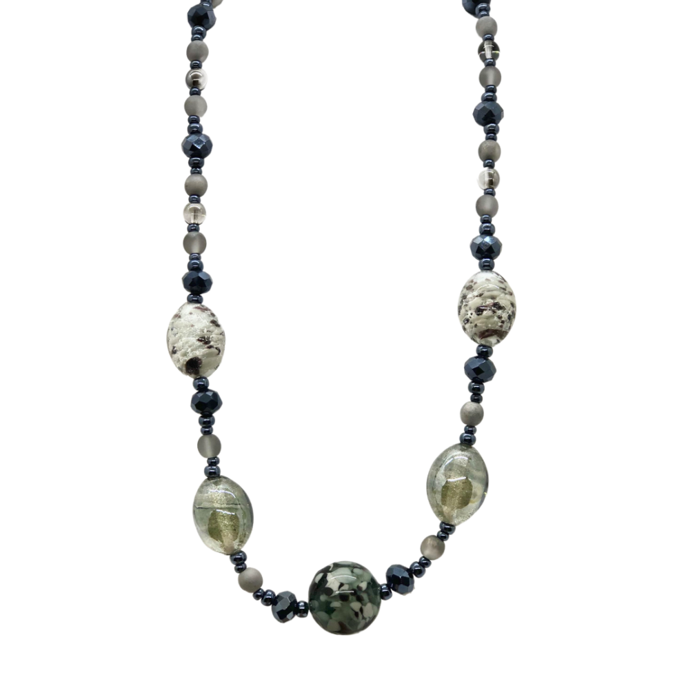 "Blue & Black ""Fenice"" Necklace"