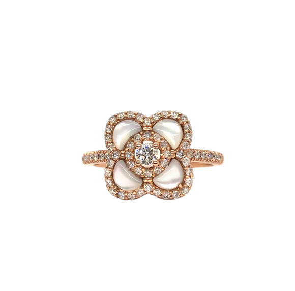 Mother of Pearl Rose Gold Ring