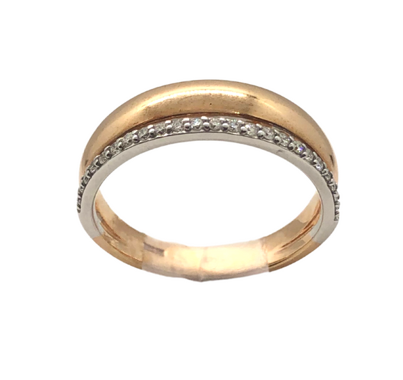 Breuning Rose Gold and Diamond .15ct Ring