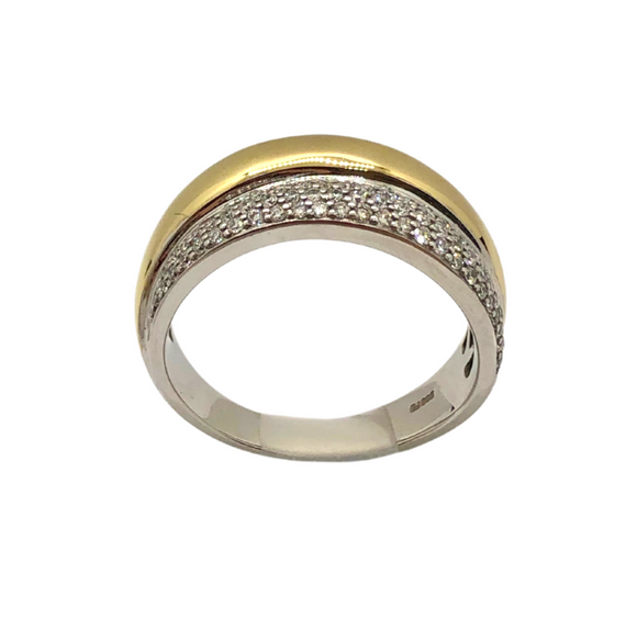 Breuning Gold and Diamond .36ct Ring