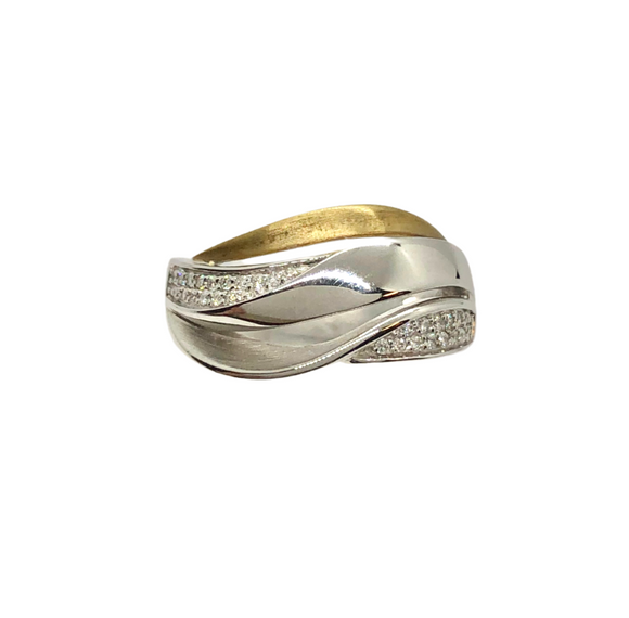 Two Tone and Diamond Ring