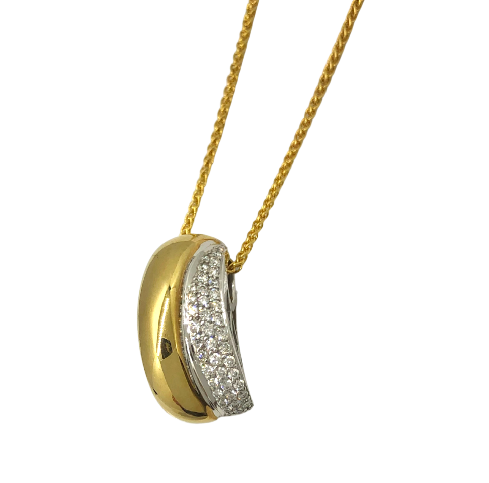 Breuning Gold and Diamond Pendant