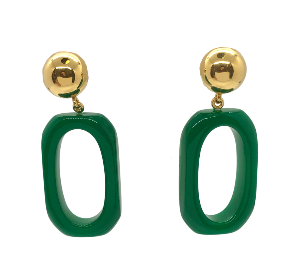 PONO Green Earrings