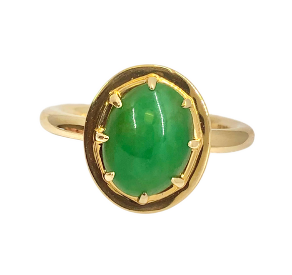 Emerald and 14k Gold Ring