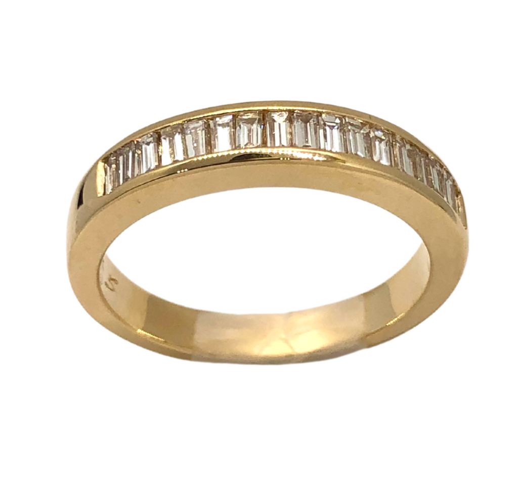 14K Yellow Gold .60TW Band
