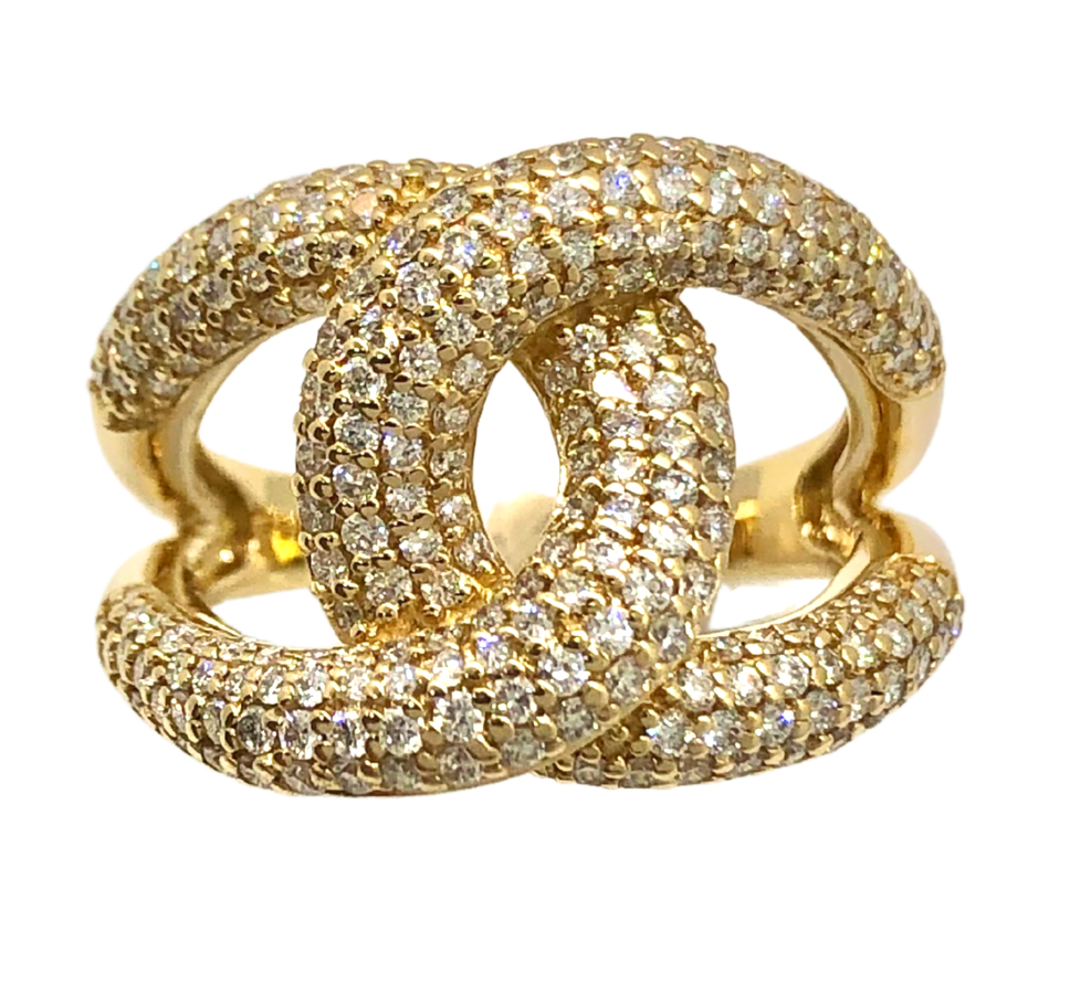 14K Cobra Diamond Fashion Ring