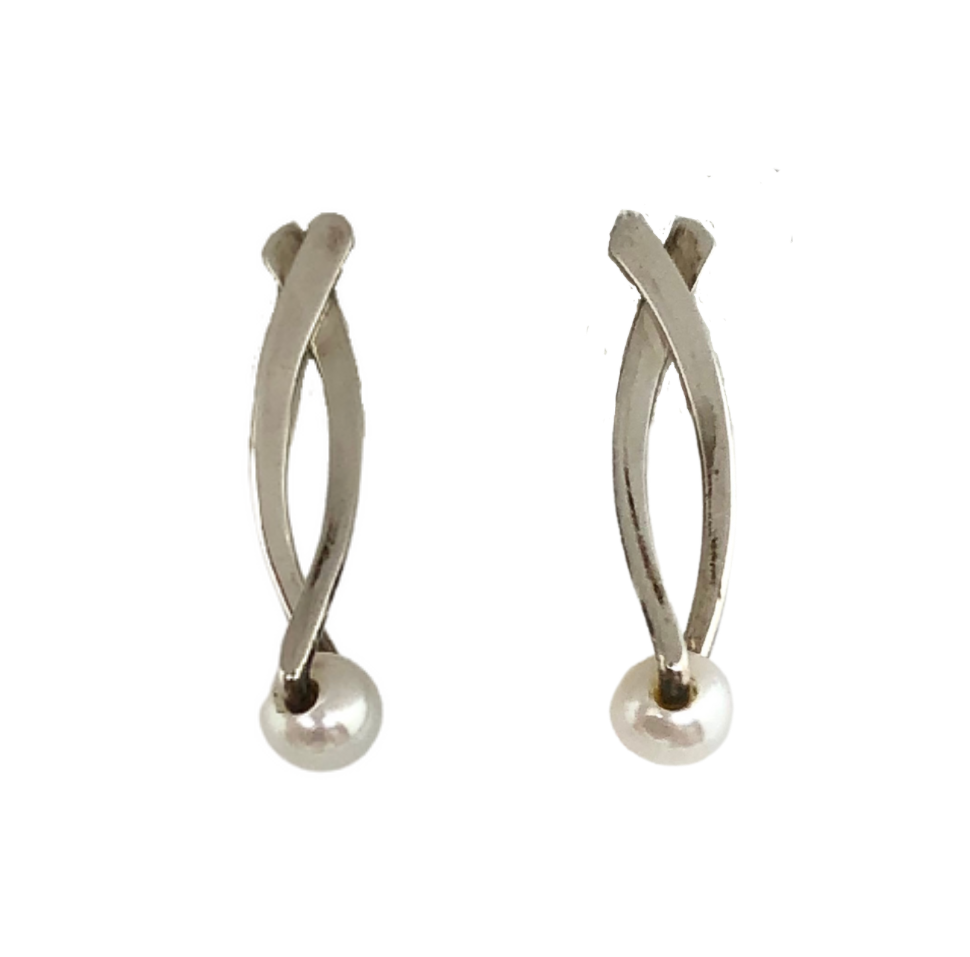 Sterling Silver with Pearl Earrings
