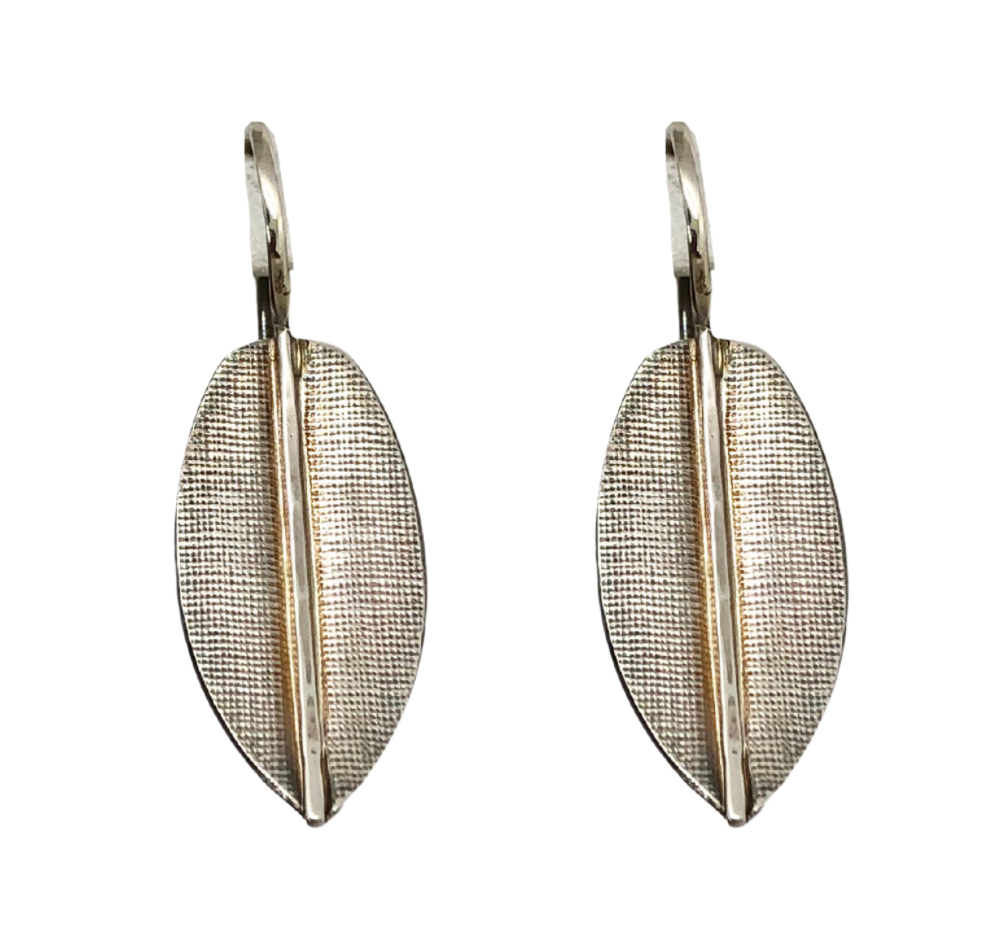 Textured Leaf Earring