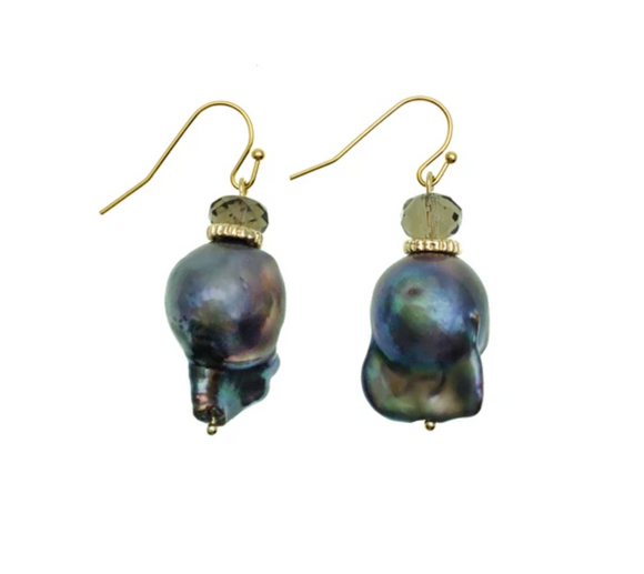Purple Baroque Pearl Earrings