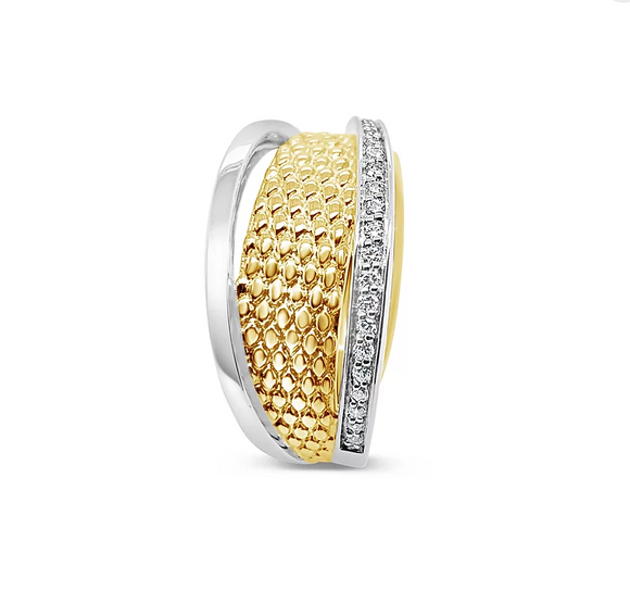 Breuning Fashion Yellow Gold and Diamond Ring